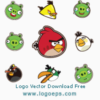 Angry Birds logo, logo of Angry Birds, download Angry Birds logo, Angry Birds, vector logo