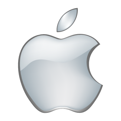 Apple 3D logo vector