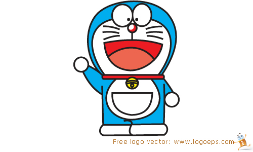 Doraemon logo vector in .AI format