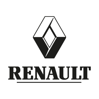 Renault black logo vector