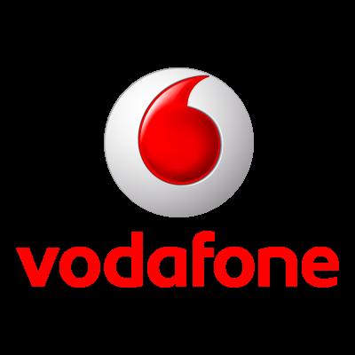 Vodafone 3D logo vector