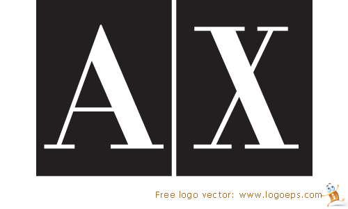A X Armani Exchange logo vector in EPS format