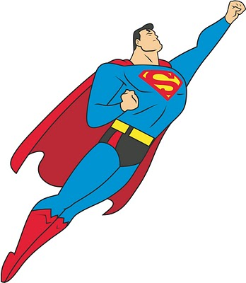 Superman cartoon logo