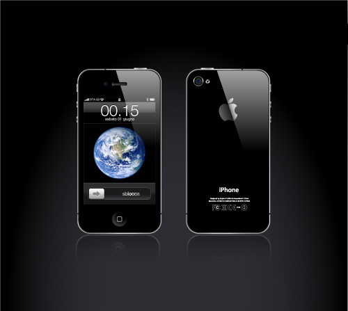 Iphone 4 logo vector in .EPS format