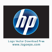New HP logo vector