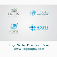 server-and-hosting-logo-template