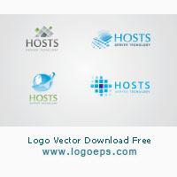 server-and-hosting-logo-template