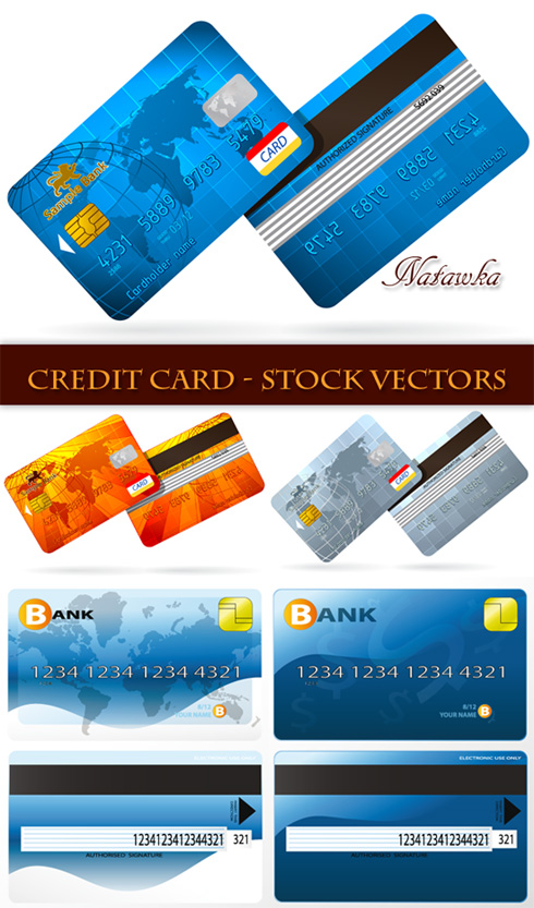 credit card vector design