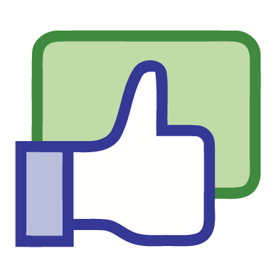Facebook like button vector