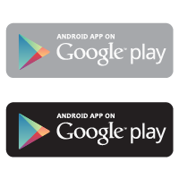 Android app on Google play vector
