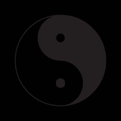 Yin Yang vector logo