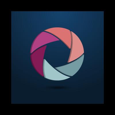 Camera shutter logo template