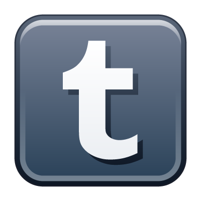 Tumblr icon vector