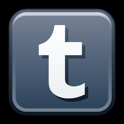 Tumblr icon vector