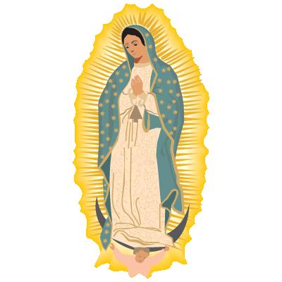 Virgen de Guadalupe logo vector