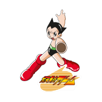 Astro boy anime vector