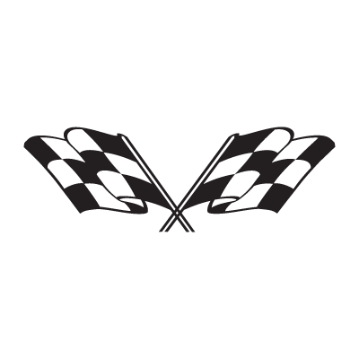Checkered flag logo vector