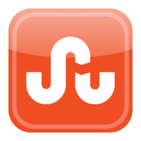 Stumbleupon icon vector