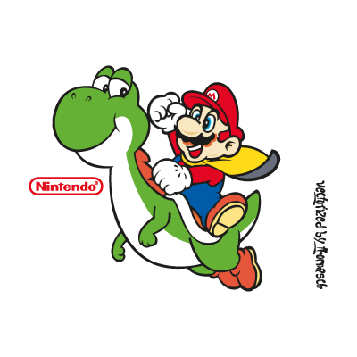Super Mario World logo vector