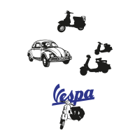 Vintage cars vector logo
