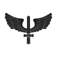 Brazilian Air Force black vector logo