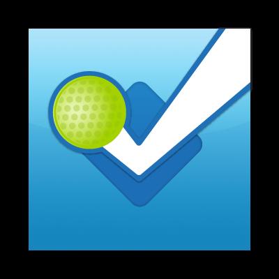 Foursquare button vector free