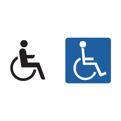 Handicap Sign logo vector