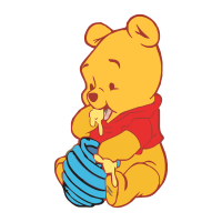 Baby Pooh logo vector