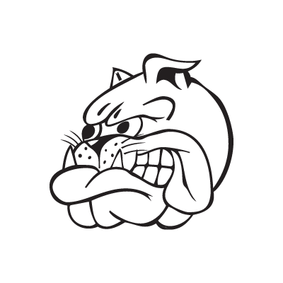 Bad Blue Boys Bulldog logo vector