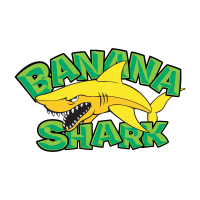 Banana Shark logo vector