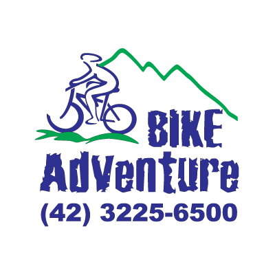 Bike adventure logo vector