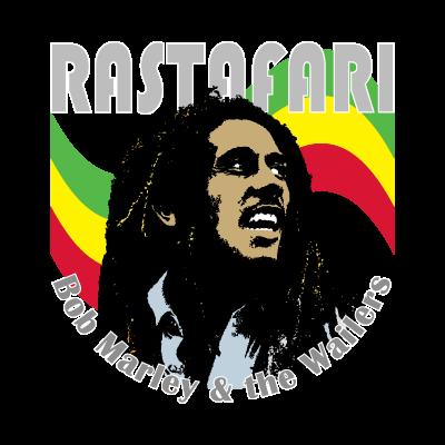 Bob Marley music logo vector