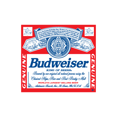 Budweiser Beer Logo Vector In Eps Ai Cdr Free Download