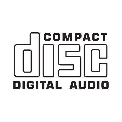 Compact Disc CD logo vector