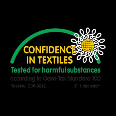 Confidence in textiles logo vector