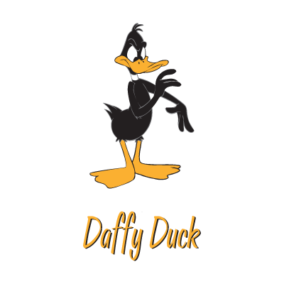 Daffy Duck Character logo vector