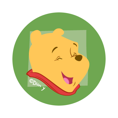 Disney's Pooh logo vector
