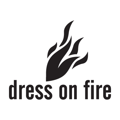 Dress on fire logo vector