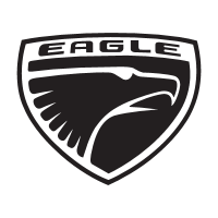 Eagle car company logo vector