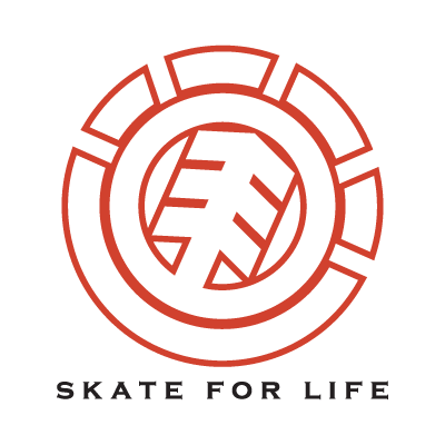 Element Skate For Life logo vector free