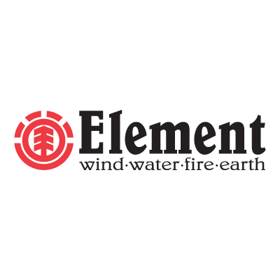 Element wind-water-fire-earth logo vector