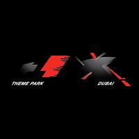 F1-X Theme Park logo vector