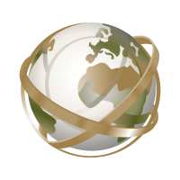Globe tracing logo vector