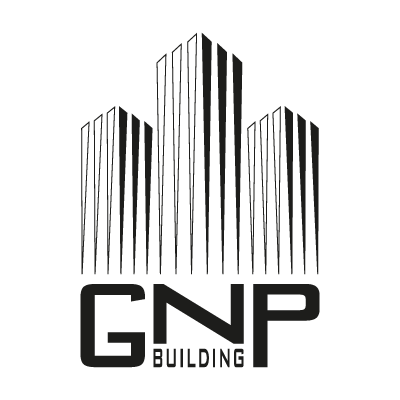 GNP building BW logo vector in (.EPS, .AI, .CDR) free download