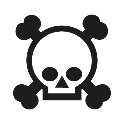 Grenade gloves skull logo vector