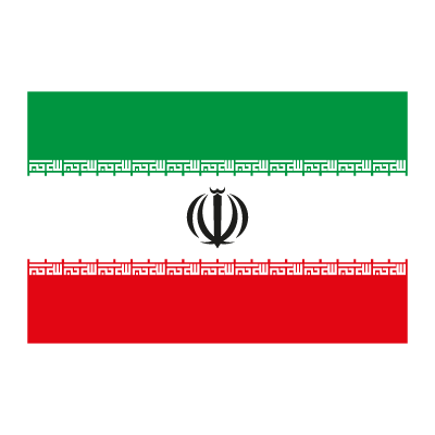 Flag of Iran logo vector