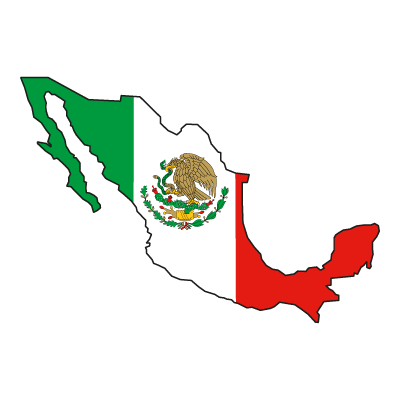 Flag of Mexico logo vector