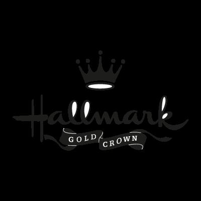 Hallmark gold crown vector logo