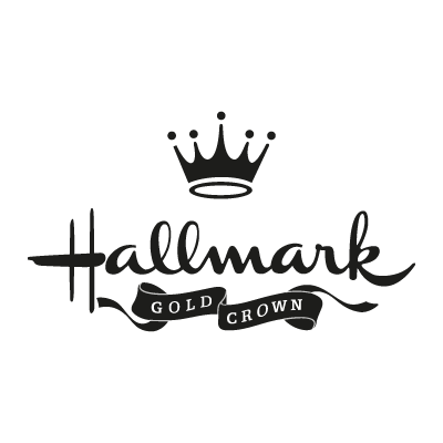 Hallmark gold crown logo vector