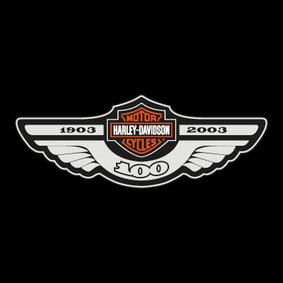 Harley Davidson 100 vector logo free